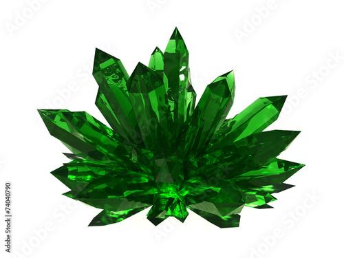 Emerald druze Canvas Print