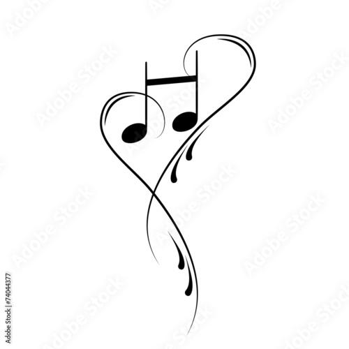 Autocollant - Notenschlüssel Noten Musik Vektor