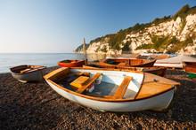 Boats On The Beach In Beer, De...