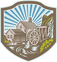 Watermill House Shield Retro