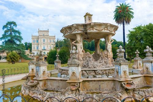 Obraz na plátně  Villa Doria Pamphili in Rome