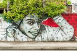 Fototapeta Młodzieżowe - graffiti portrait 3