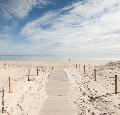 Obraz Plaża Laredo, Hiszpania - fototapety do salonu