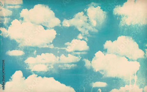 Tuinposter Retro Vintage cloudy sky background