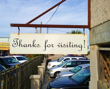 Thanks For Visiting Sign