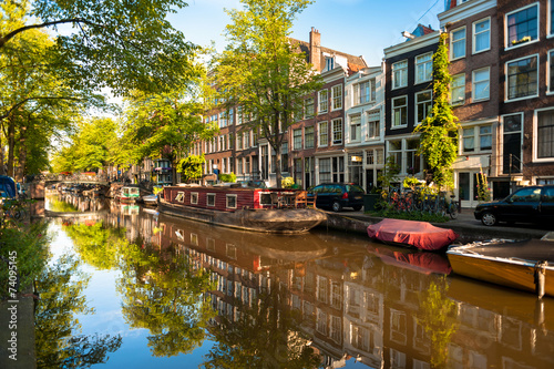 Photo Houseboat on Amsterdam Canal