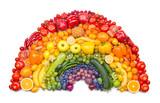 Fototapeta Rainbow - fruit and vegetable rainbow