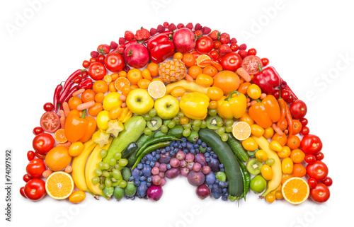 Foto op Aluminium Vruchten fruit and vegetable rainbow