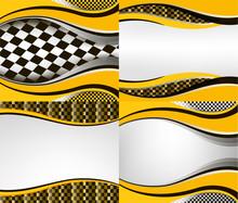 Set Of Checkered Vector Flag B...