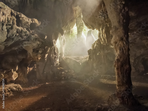 Canvas Print Ambrosio cave at Cuba