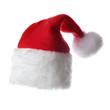 Christmas santa hat, isolated on white background