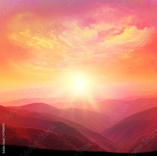 Foto op Aluminium Bergen mountain