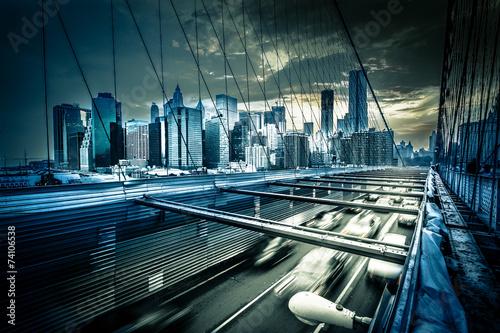 Naklejki na meble Ruch na moście Brooklińskim