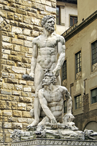 Photo  Florence, Hercules and Cacus, Piazza della Signoria, Italy