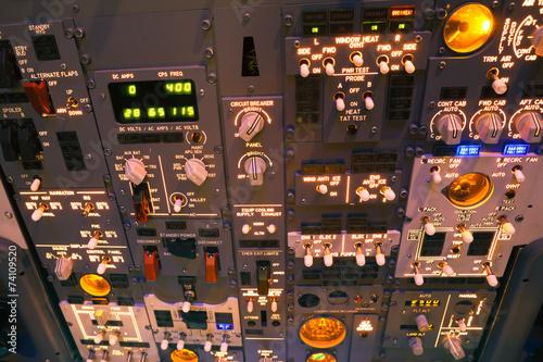 Photo dashboard of an aircraft