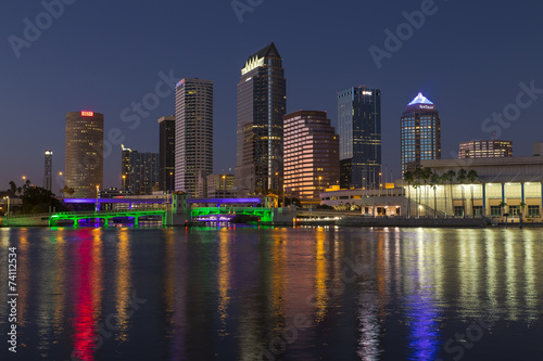 Photo  Tampa Skyline at Sunset