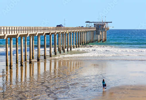 Fotografie, Obraz  Scripps Pier Institute of Oceanography, La Jolla, San Diego, CA