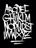 Fototapeta Młodzieżowe - Hand style graffiti font alphabet. Vector