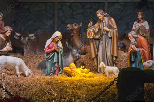 Fotografie, Obraz  The Nativity scene.