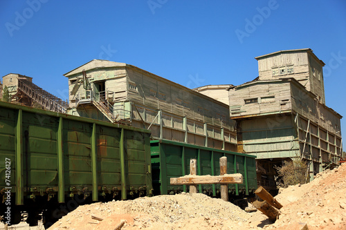 Fotografie, Obraz  railway station for loading of ore minerals