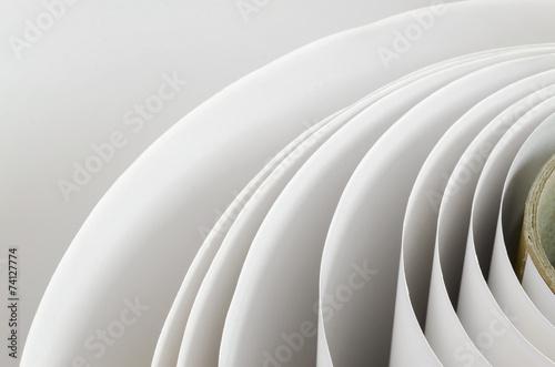 Fototapeta Topshot macro Paper roll in a printshop obraz