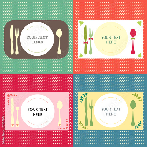 Invitation Card Template Background Dinner Concept Buy