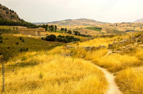 Fotografie, Obraz  Segesta Tempio greco