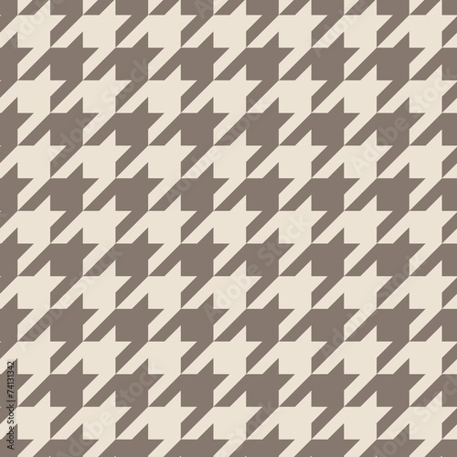 Photo  Tile vector pattern with brown houndstooth seamless background