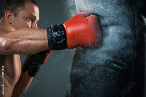 Photo  Young Boxer boxing