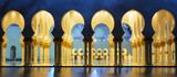 Panoramic mosque at night - 74145976