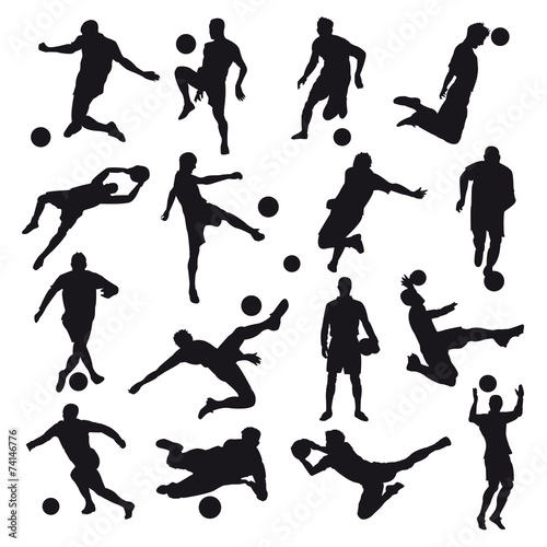 Soccer Silhouettes Canvas Print