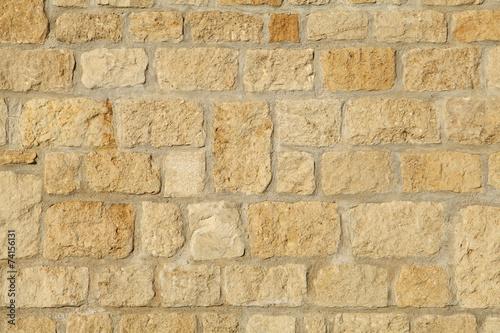 Poster de jardin Cailloux mur en pierre