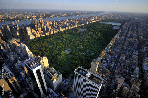 Photo  New York Manhattan at Sunrise - Central Park View