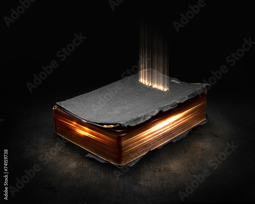 Fotografie, Obraz  Glowing Bible