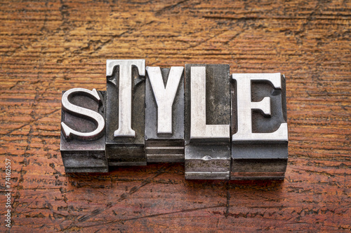 Obraz style word in  metal type - fototapety do salonu