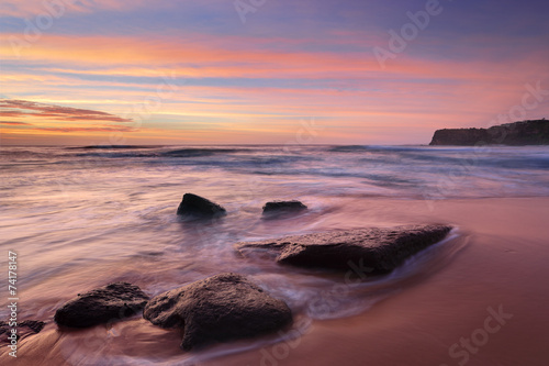 Foto op Canvas Australië The colours of summer at Bungan beach Australia