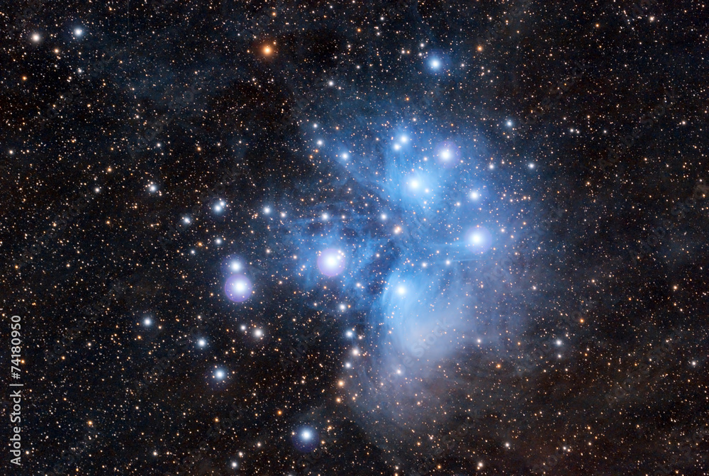 Fototapety, obrazy: Pleiades in a dark night sky