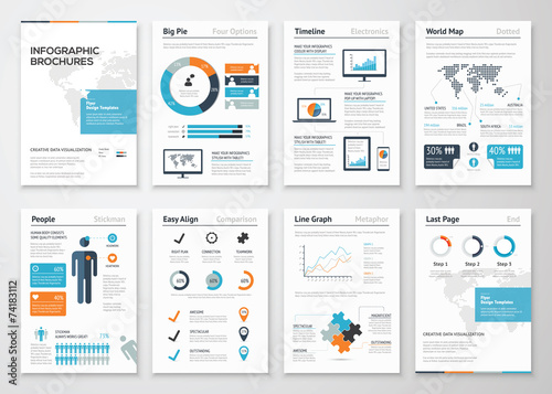 Photo  Infographic brochure elements for business data visualization