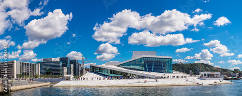 Canvas Print The Oslo Opera House