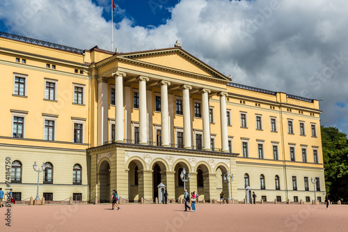 Photo  Royal Palace  in Oslo, Norway