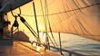 canvas print picture - beautiful sun-filled sails at dawn