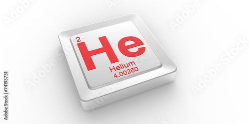 He Symbol For Helium Chemical Element Of The Periodic Table Buy