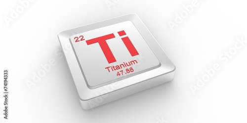 Ti Symbol 22 For Titanium Chemical Element Of The Periodic Table