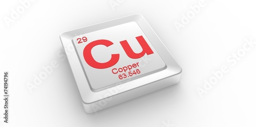 Cu Symbol 29 For Copper Chemical Element Of The Periodic Table Buy