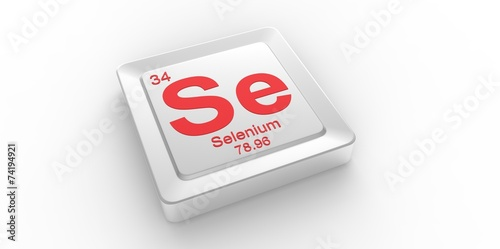 Se Symbol 34 For Selenium Chemical Element Of The Periodic Table