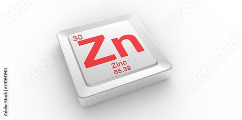 Zn Symbol 30 For Zinc Chemical Element Of The Periodic Table Buy
