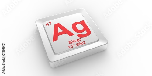Ag Symbol 47 For Silver Chemical Element Of The Periodic Table Buy