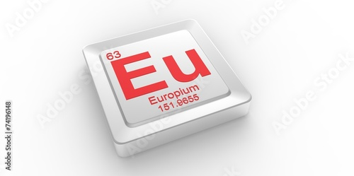 Fotografia  Eu symbol 63 for Europium chemical element of the periodic table