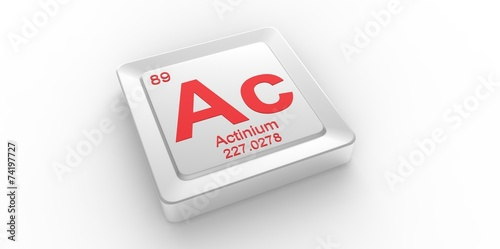 Ac symbol 89 for Actinium chemical element of the periodic table Canvas Print