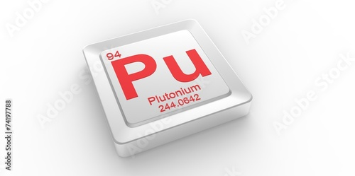 Pu Symbol 94 For Plutonium Chemical Elem Of The Periodic Table Buy